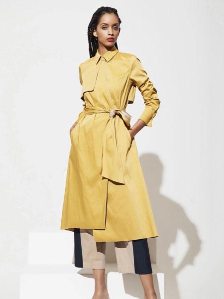 Mi Jong Lee女装品牌2019秋季黄色裙子