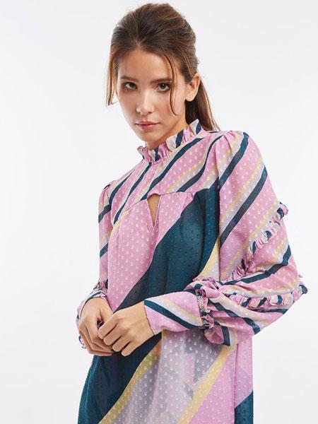 Kloset女装品牌2019春夏印花裙子