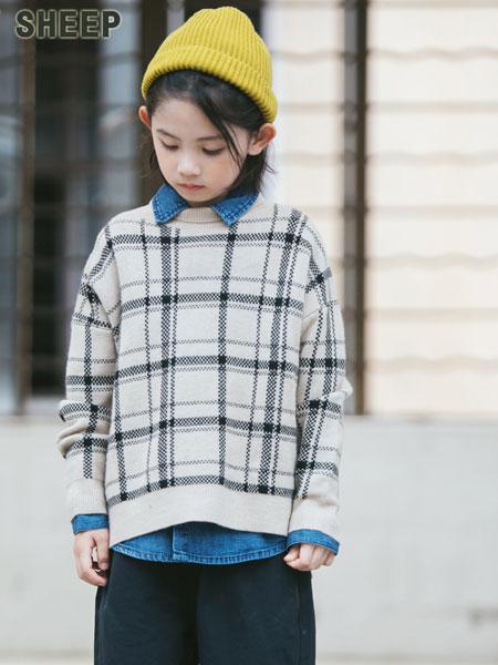 贝蒂小羊童装品牌2019秋冬高档格子仿貂绒毛衣中大童