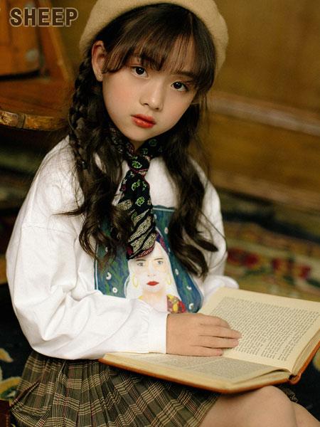 贝蒂小羊童装品牌2019秋冬宽松百搭短袖小衫衬衣