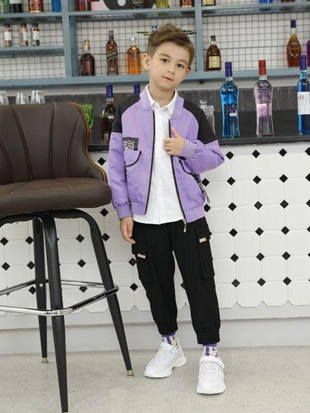 芭乐兔童装品牌2019秋冬新款中大童韩版撞色洋气棒球服拉链衫