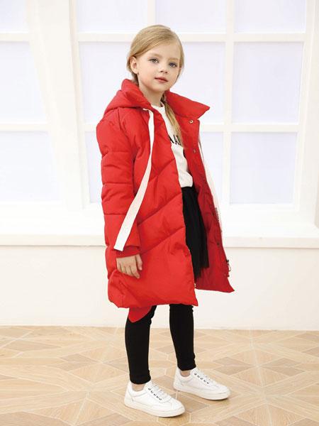 芭乐兔童装品牌2019秋冬新款时尚保暖连帽宽松休闲厚款外套