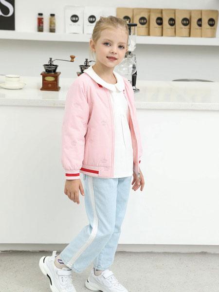 芭乐兔童装品牌2019秋冬新款时尚韩版洋气儿童上衣夹克