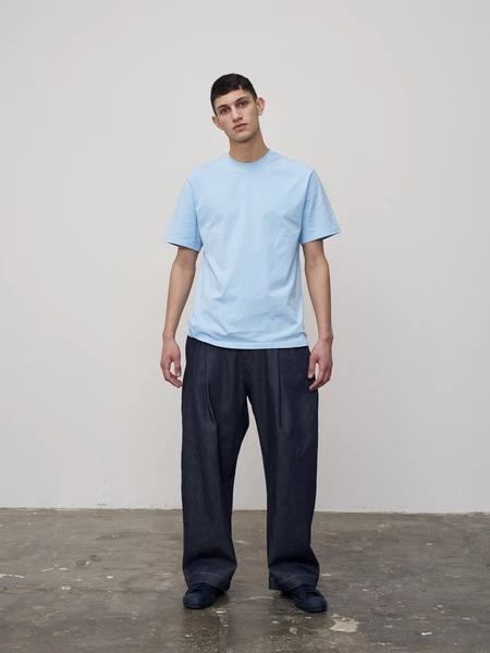 STUDIO NICHOLSON国际品牌品牌2019春夏蓝色T恤