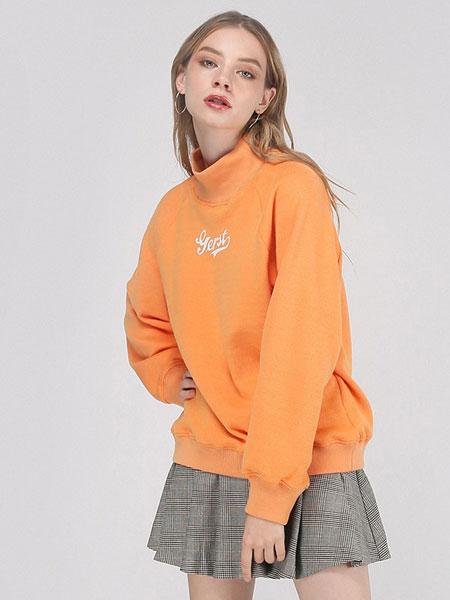 didimax女装品牌2019秋冬橙色卫衣