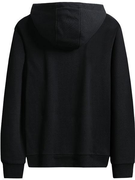 动咔服饰休闲品牌2019秋冬黑色卫衣