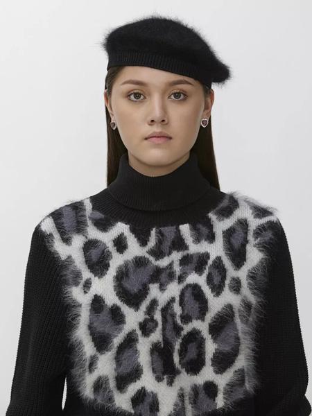 Sretsis国际品牌2019秋冬豹纹上衣