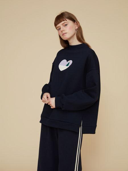 DEARSTALKER女装品牌2019秋冬黑色潮流卫衣