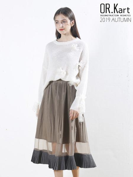 解构女装女装品牌2019秋季女性知性套头针织衫