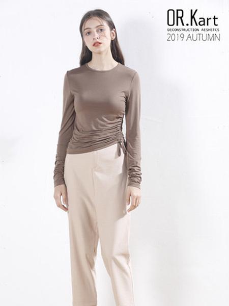解构女装女装品牌2019秋季女性知性修身打底衫