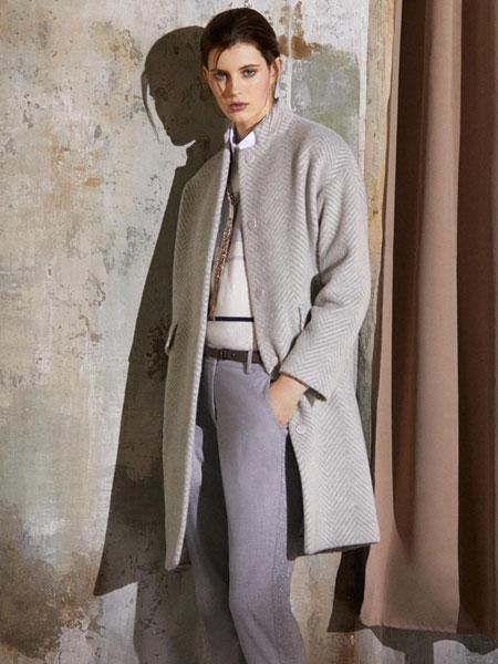 蓓赛丽珂PESERICO女装品牌2019秋冬新款韩版过膝双面羊绒外套