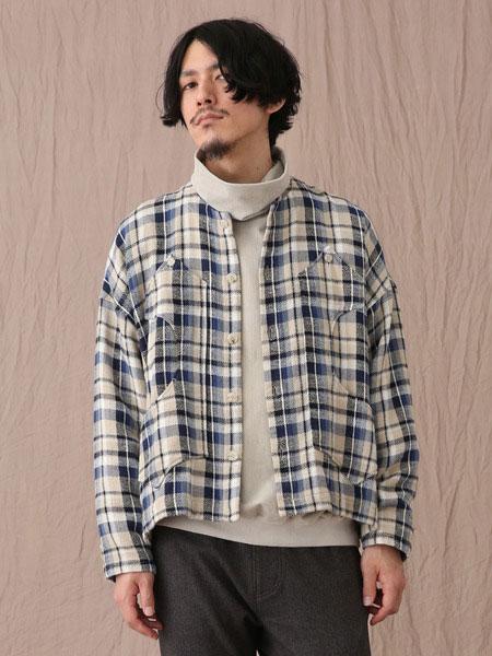 Iroquois男装品牌2019秋冬格子上衣