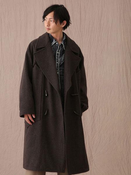 Iroquois男装品牌2019秋冬棕色外套