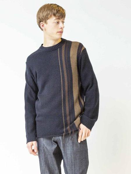 Johnbull国际品牌品牌2019秋冬藏青印花卫衣