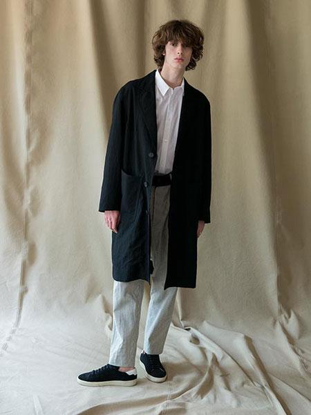 WRAPINKNOT国际品牌2019春夏黑色大衣