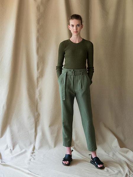 WRAPINKNOT国际品牌品牌2019春夏绿色裤子