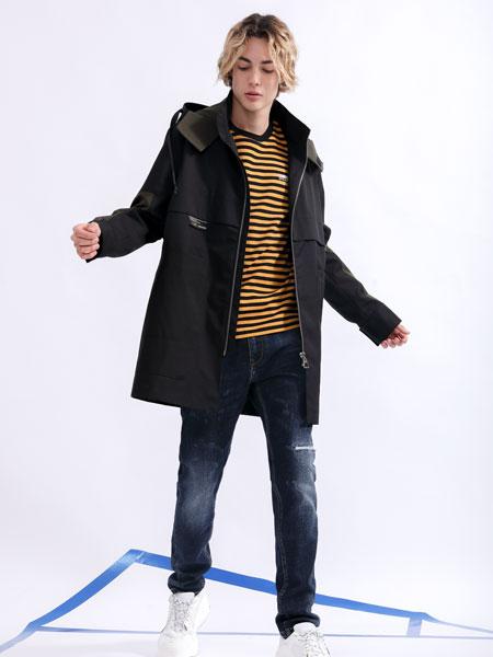 莎斯�R思男�b品牌2019秋季黑色外套