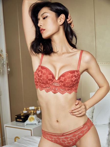 布迪·设计内衣品牌红色镂空印花内衣