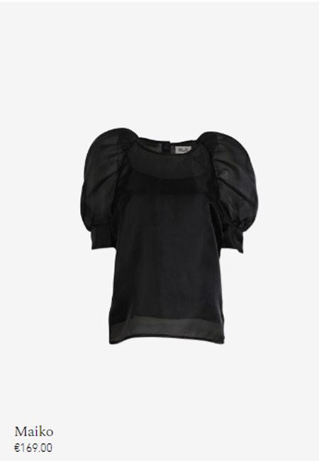 Baum und Pferdgarten女装品牌2019秋冬黑色上衣