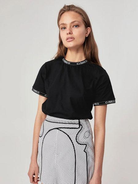 C MEO COLLECTIVE国际品牌品牌2019秋黑色T恤