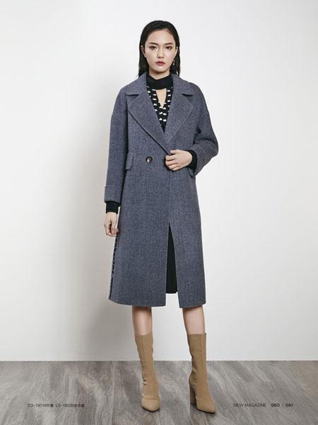 例格女装品牌2019秋冬新款时尚气质职业装修身格子西装长袖套装