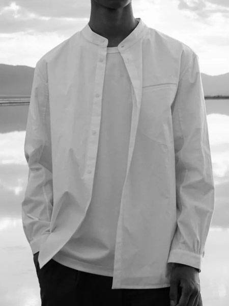 樸術男装品牌2019秋季白色衬衫