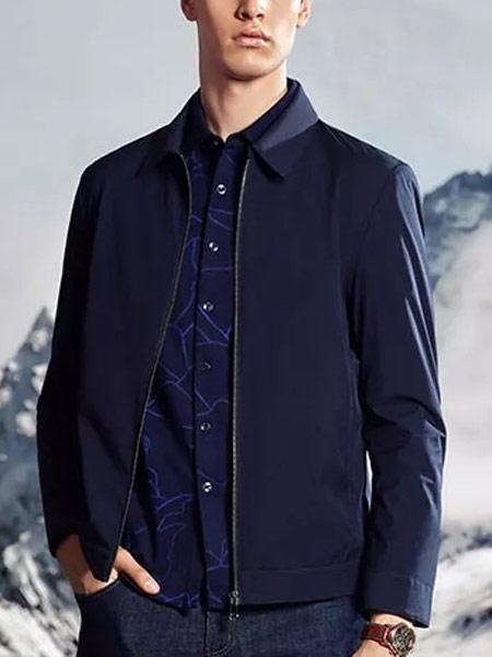 名盾男装品牌2019秋冬藏青色外套