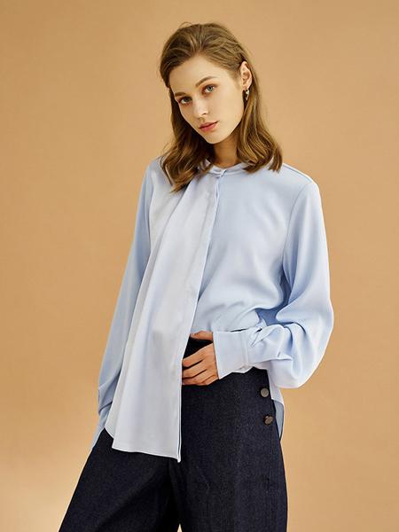 ISMMING女装品牌2019秋冬雪纺衬衣