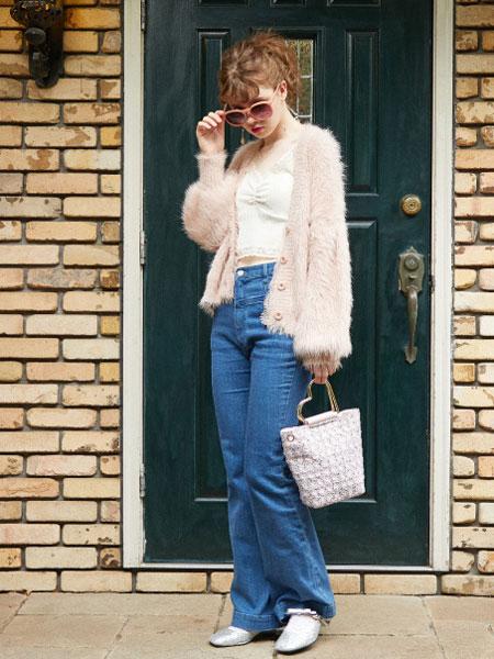 honey salon国际品牌2019秋季粉色外套