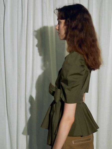 FURFUR女装品牌2019秋冬绿色衬衫