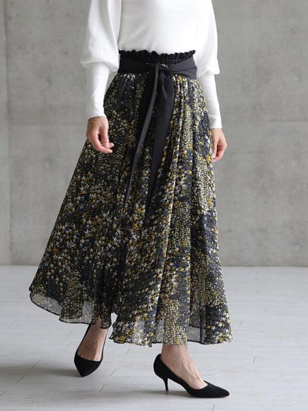 CHONO国际品牌品牌2019春夏时尚镂空印花裙子