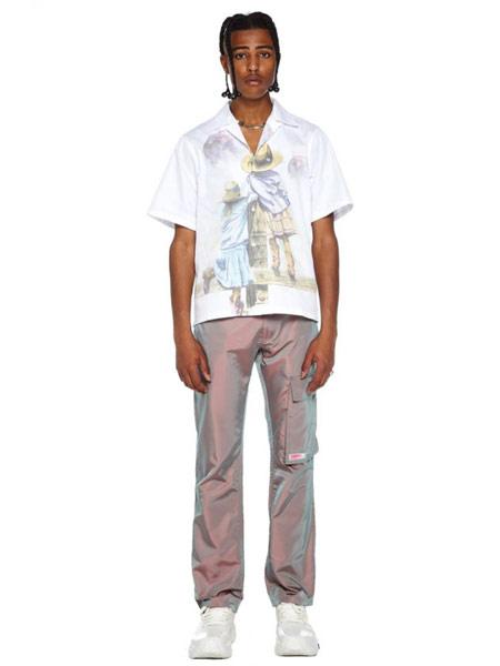 Misbhv国际品牌品牌2019春夏时尚印花衬衫
