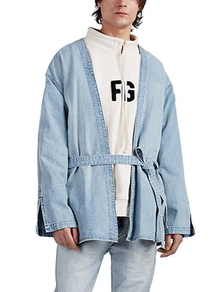 Helmut Lang(海尔姆特-朗)男装品牌2019秋冬收腰个性牛仔外套