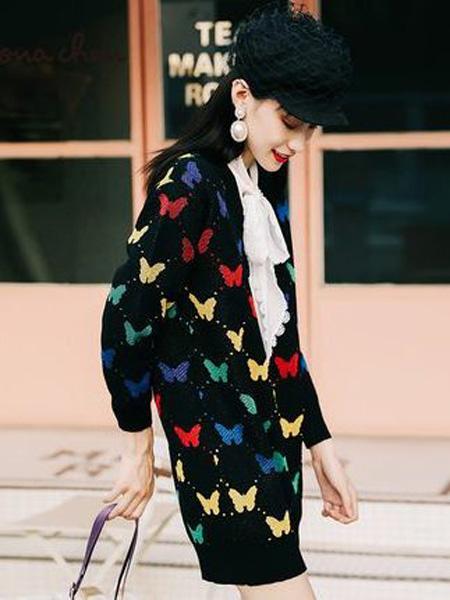 JAMEI CHEN 陳季敏女装品牌2019秋冬个性时尚小蝴蝶图案外套
