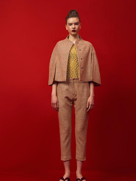 乔JOQIAODING女装品牌2019秋冬八分袖小披风外套