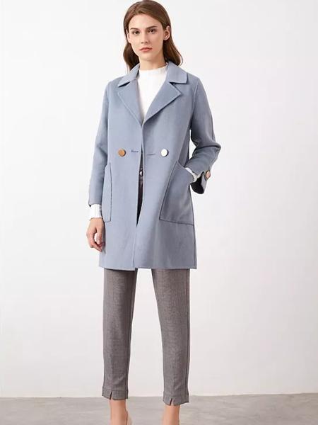 布衣由黛女装品牌2019秋冬毛呢呢子大衣