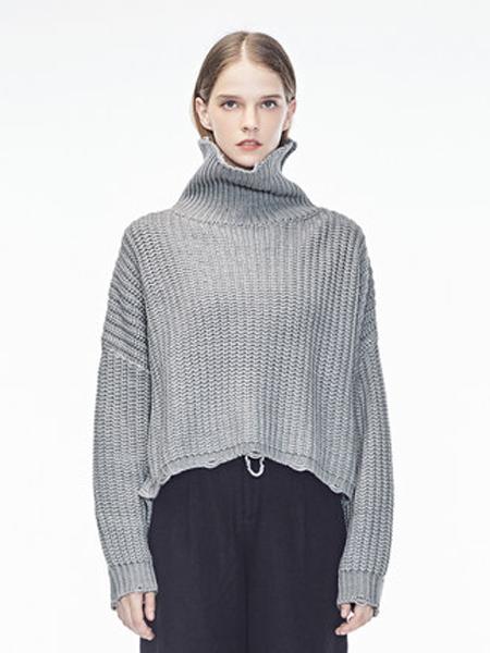 Natan女装品牌2019秋冬高领短款毛衣