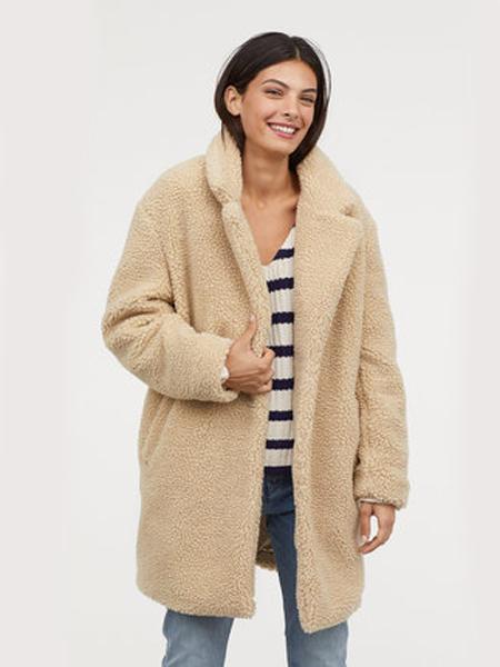 艺术空间T-YSKJ女装品牌2019秋冬羊羔毛保暖外套