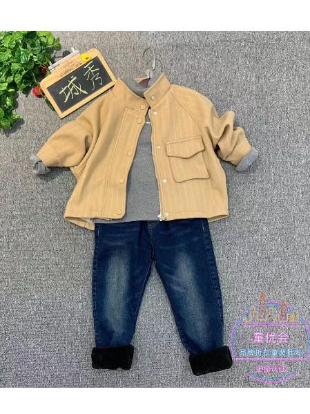 19年深秋冬城秀 唛咖啦韩范童装淘宝直播品牌折扣童装批发货源