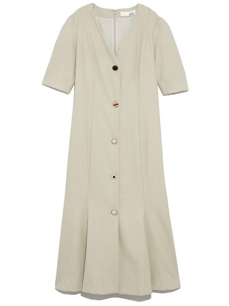 Lily  Brown国际品牌品牌2019秋季复古气质收腰连衣裙