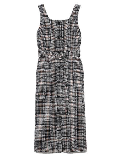 Lily  Brown国际品牌2019秋季腰带背带裙