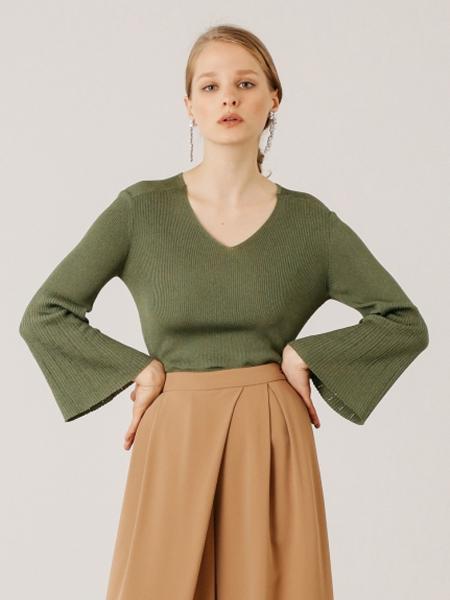 CELFORD国际品牌品牌2019秋冬复古气质针织上衣