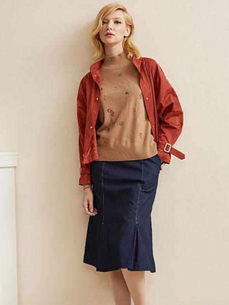印象草原女装品牌2019秋冬新款百搭短款外套针织开衫
