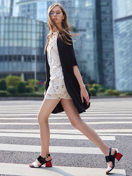 37°生活美学女装品牌2019春夏新款防晒开衫外套外披喇叭袖中长款雪纺衫