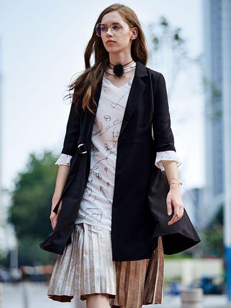 37°生活美学女装品牌2019春夏新款休闲复古格子西服韩松英伦小西装外套