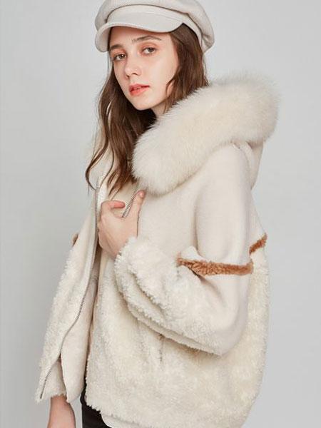 欧炫尔女装品牌2019秋冬新款羊剪绒皮草短款海宁狐狸毛真皮皮衣