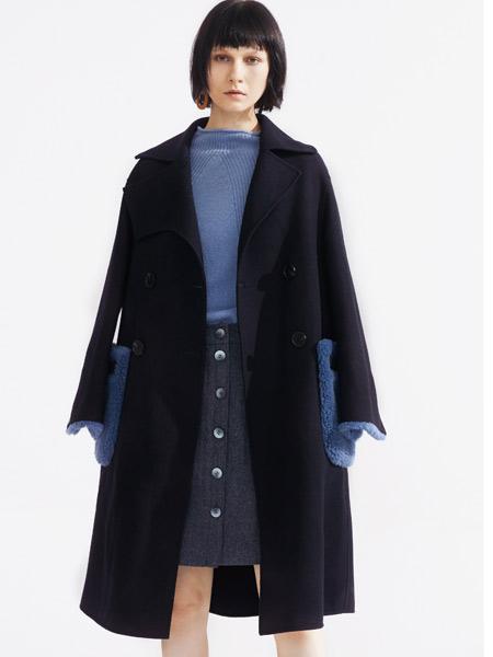 落地客女装品牌2019秋冬毛呢大衣