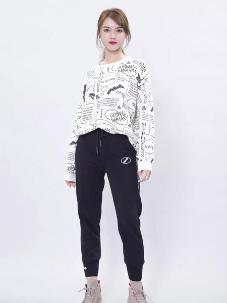 果一果女孩女装品牌2019秋冬修身运动裤