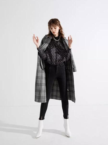 esons女装品牌2019秋冬时尚毛呢外套