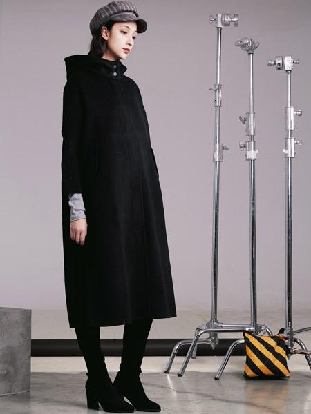 阿莱贝琳女装品牌2019秋冬加厚棉服外套